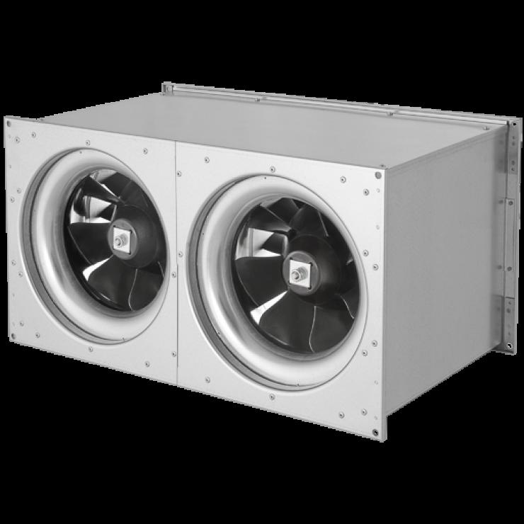 Вентиляторы канальные для прямоугольных воздуховодов ELKI