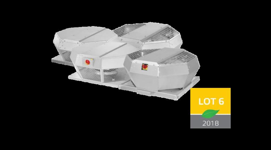 Замена типоразмеров для крышных вентиляторов DHA и DVA